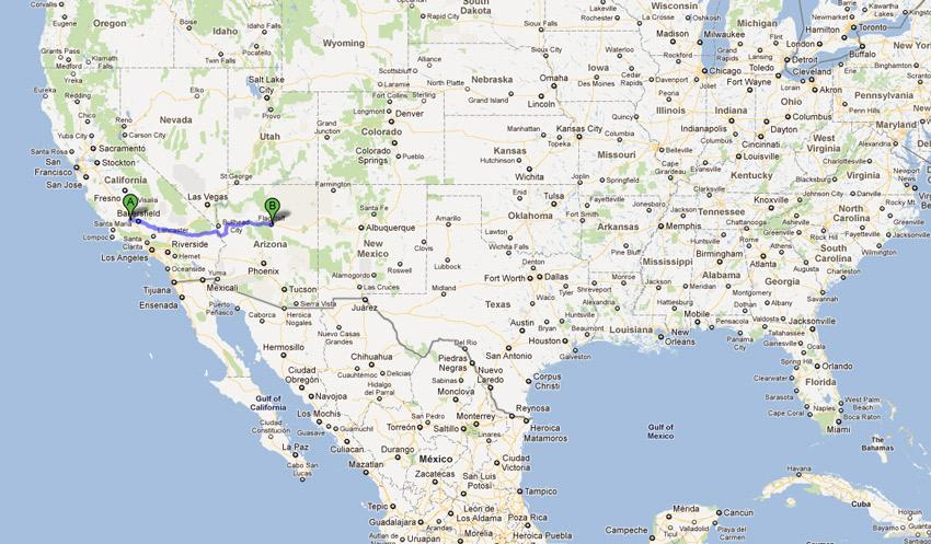 California to Flagstaff Road trip