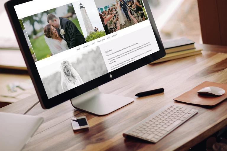 Custom website design for photographers