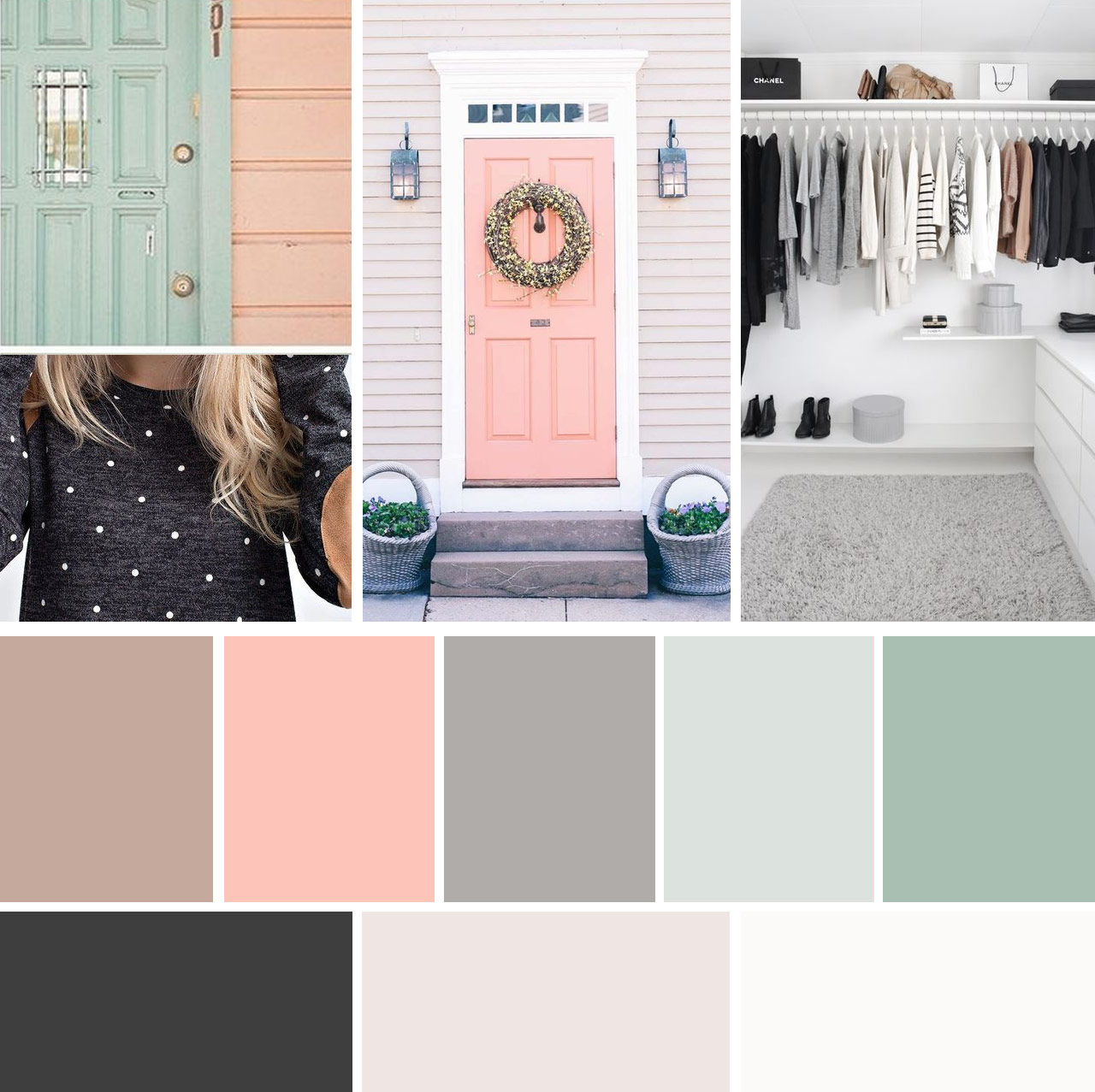 Color palette - branding for photography websites