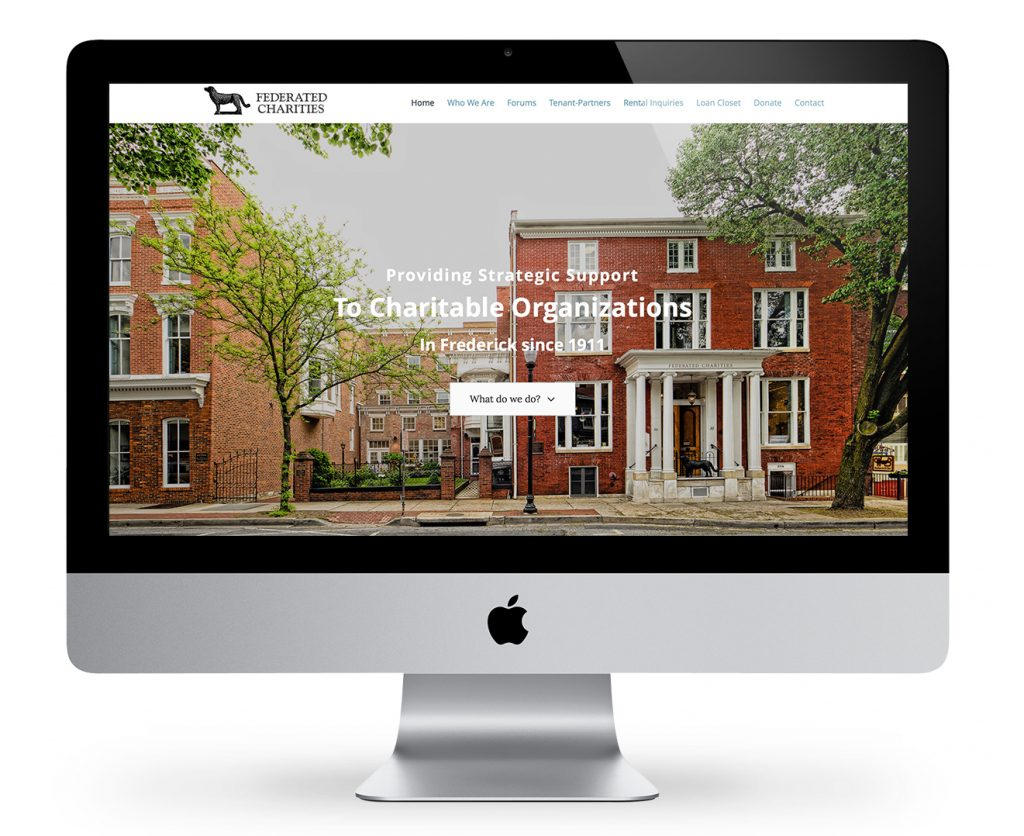 Non Profit Website Design for Frederick Maryland Charity by Jessie Mary & Co.