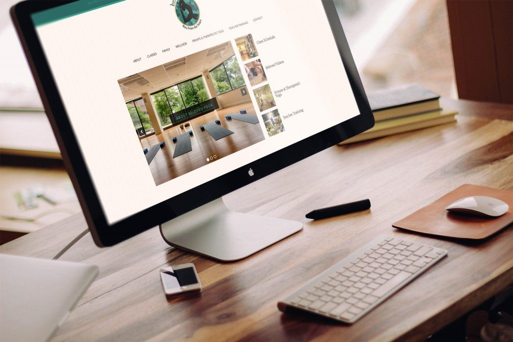 Beloved Yoga Reston Website Design