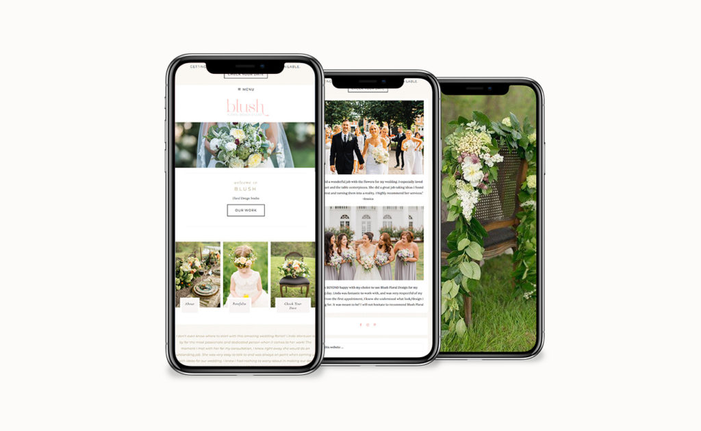 website design for wedding vendors