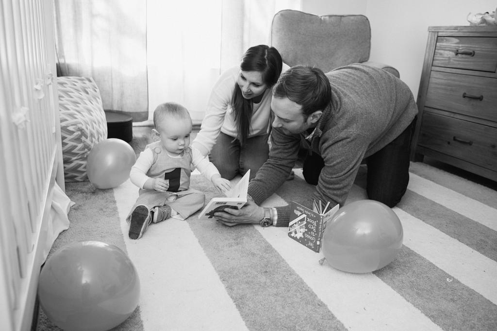 Reston family portraits at home
