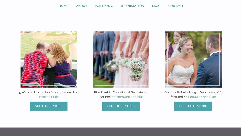 custom design for wedding photographers