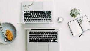 small business website design - laptops
