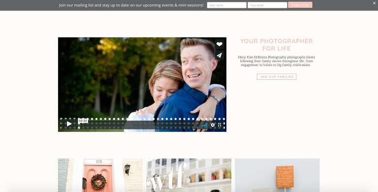 Pro Photo Designer - Custom Website for Maryland Photographer