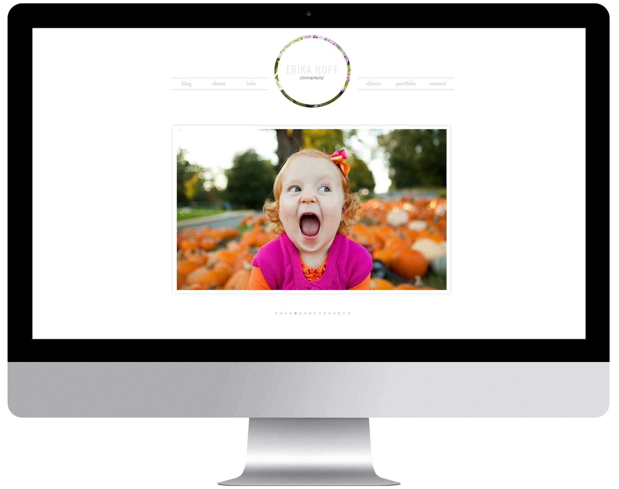 Erika Hoff   Custom Website Design